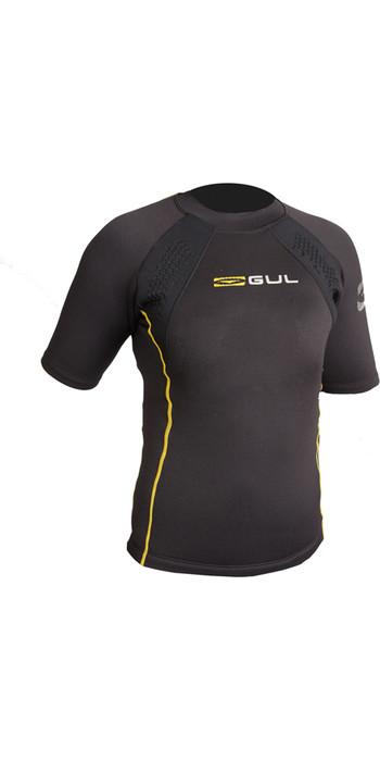 2020 GUL Evotherm Junior Thermal Short Sleeve Top BLACK EV0063-B3
