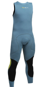 2020 Gul Code Zero 1mm Flatlock Long John Wetsuit PEWTER CZ4309-B2