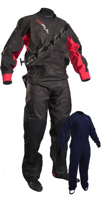2020 GUL Junior Dartmouth Eclip Zip Drysuit & Free Underfleece BLACK / RED GM0378-B5