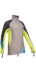 GUL Junior Long Sleeve Rash Vest Marl / Lime RG0344-B4