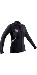 2020 GUL Womens Response 3mm Flatlock Neoprene Jacket RE6305-B7 - Black