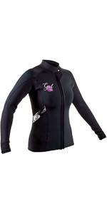 2020 GUL Womens Response 3mm Flatlock Neoprene Jacket RE6305-B7 - Black