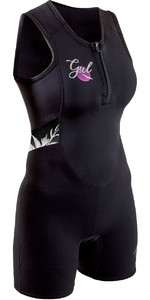 2020 GUL Womens Response 3/2mm Front Zip Short Jane Wetsuit RE5306-B7 - Black