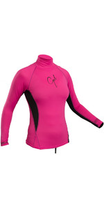 2019 Gul Womens Swami Long Sleeved Rash Vest Pink / Black RG0331-B4