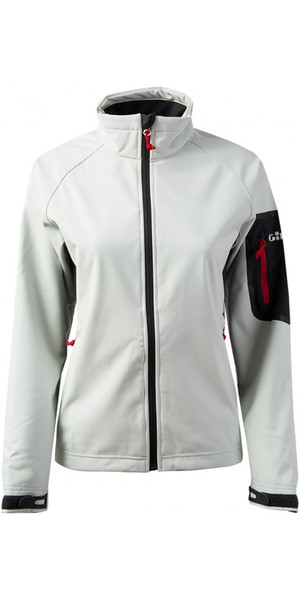 2019 Gill Womens Team Softshell Jacket SILVER 1613W