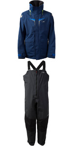 2019 Gill OS3 Mens Coastal Jacket OS31J & OS3 Mens Coastal Trousers OS31T COMBI SET DARK BLUE /  GRAPHITE