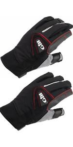 Gill Championship Long & Short Finger Sailing Gloves Package Deal Black