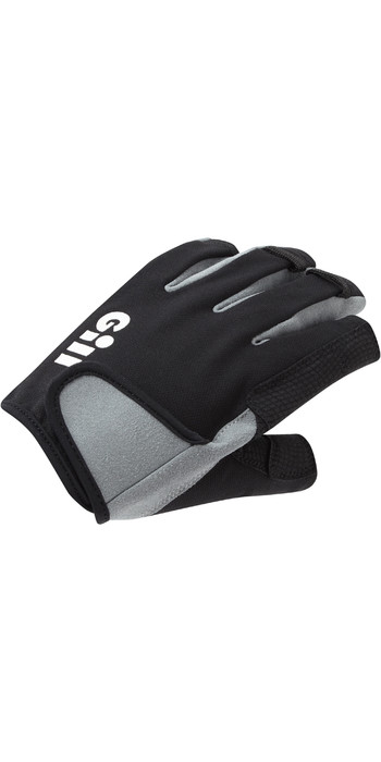 2021 Gill Junior Junior Deckhand Gloves - Short Finger 7043J - Black
