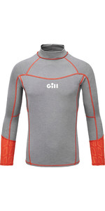 2020 Gill Junior Eco Pro Rash Vest 5025J - Grey Melange