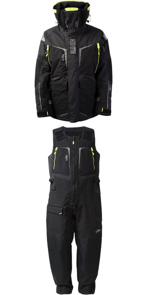 2018 Gill Mens OS1 Offshore Ocean Jacket OS12J & Trouser OS12T Combi Set in Graphite