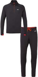Gill Mens OS Thermal Zip Neck Top & Leggings Package Deal - Graphite