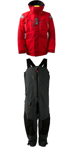 2018 Gill Mens OS2 Jacket OS23J & Trouser OS23T Combi Set Red / Graphite