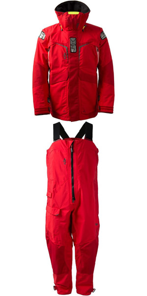 2018 Gill Mens OS2 Jacket OS23J & Trouser OS23T Combi Set Red