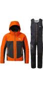 2020 Gill Mens Race Fusion Jacket & Salopette Combi Set - Tango / Black
