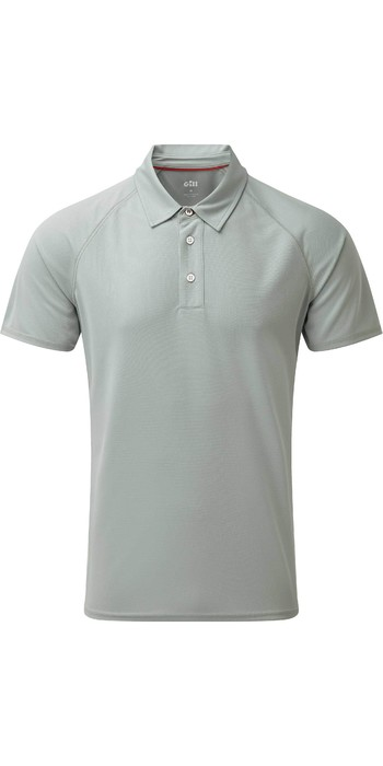 2021 Gill Mens UV Tec Polo Top Grey UV008