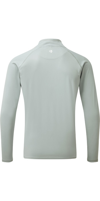 2021 Gill Mens UV Tec Zip Neck Top Grey UV009