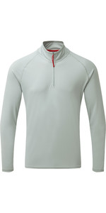 2020 Gill Mens UV Tec Zip Neck Top Grey UV009