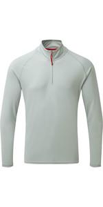2020 Gill Mens UV Tec Zip Neck Top Grey UV009