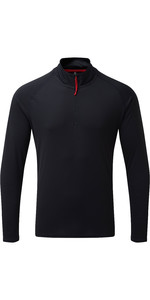 2021 Gill Mens UV Tec Zip Neck Top Navy UV009