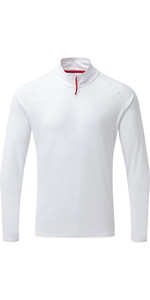 2019 Gill Mens UV Tec Zip Neck Top White UV009