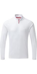 2020 Gill Mens UV Tec Zip Neck Top White UV009