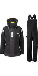 2020 Gill OS2 Womens Offshore Jacket & Trouser Combi Set - Black
