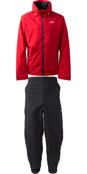 2018 Gill Pilot Jacket & Trouser Combi Set Red / Graphite