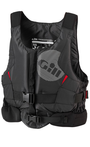 2018 Gill Junior Pro Racer Front Zip Buoyancy Aid Black - 4917J