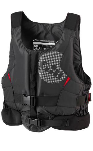2019 Gill Pro Racer Front Zip Buoyancy Aid Black - 4917