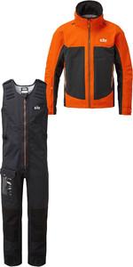 2020 Gill Mens Race Fusion Jacket RS23 & Salopettes RS25 Tango / Black