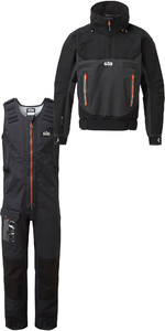 2019 Gill Mens Race Fusion Smock RS24 & Salopettes RS25 Black