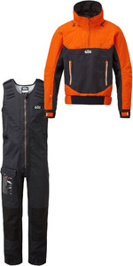 2019 Gill Mens Race Fusion Smock RS24 & Salopettes RS25 Tango / Black
