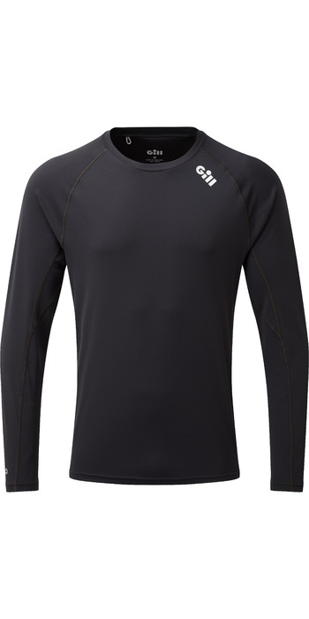 2019 Gill Mens Race Long Sleeve T-Shirt Graphite RS07