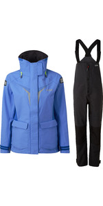 2020 Gill OS3 Womens Coastal Jacket & Trouser Combi Set - Light Blue / Graphite