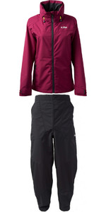 2019 Gill Womens Pilot Jacket IN81JW & Trouser IN81T Combi Set Berry / Graphite