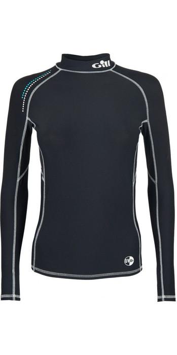 2021 Gill Womens Pro Long Sleeve Rash Vest Black 4430W