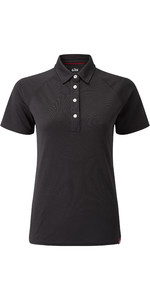 2020 Gill Womens UV Tec Polo Top Charcoal UV008W