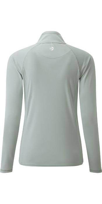 2021 Gill Womens UV Tec Zip Neck Top Grey UV009W