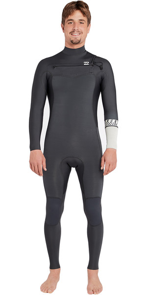 2018 Billabong Furnace Revolution 4/3mm Chest Zip Wetsuit Graphite L44M06