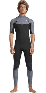 2019 Billabong Mens 2mm Furnace Absolute Comp Chest Zip Wetsuit Grey Heather N42M19