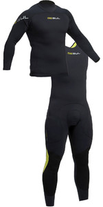 2019 Gul Code Zero 3mm Long Sleeve Thermo Top & Long John Combi Set Black