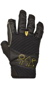 2020 Gul Junior EVO Pro Three Finger Sailing Glove Black GL1300-B4