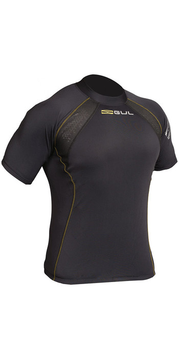 2020 Gul Evolite Flatlock Thermal Short Sleeve Top Black EV0123-B2