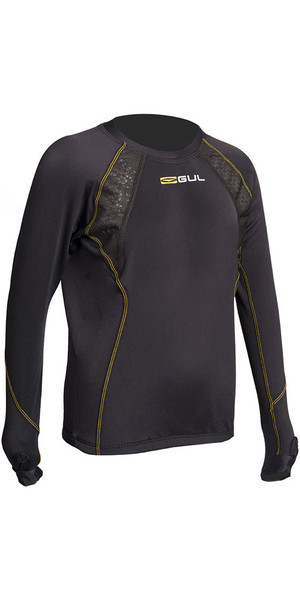 2019 Gul Evolite Junior Thermal Long Sleeve Top Black EV0121-B2