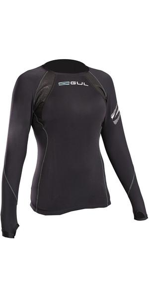 2018 Gul Evolite Womens Flatlock Thermal Long Sleeve Top Black EV0120-B2