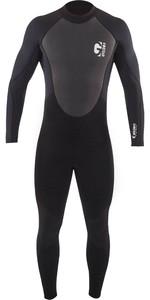2021 Gul G-Force Junior Boys 3mm Flatlock Wetsuit GF1307-B7 - Black
