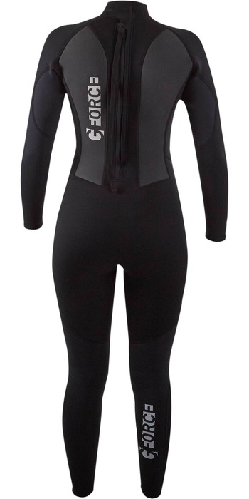 2021 Gul G-Force Junior Girls 3mm Flatlock Wetsuit GF1308-B7 - Black