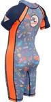Gul Junior Front Zip UV Sun Suit Sealife RG0349-B4