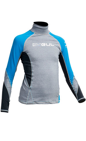 Gul Junior Long Sleeve Rash Vest Marl / Crip RG0344-A9