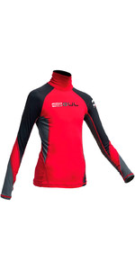Gul Junior Long Sleeve Rash Vest Red / Black RG0344-A9
